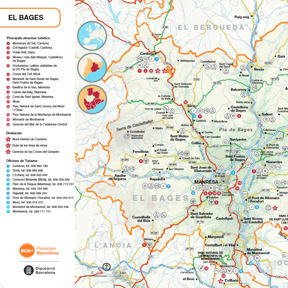 Mapa comarcal del Bages
