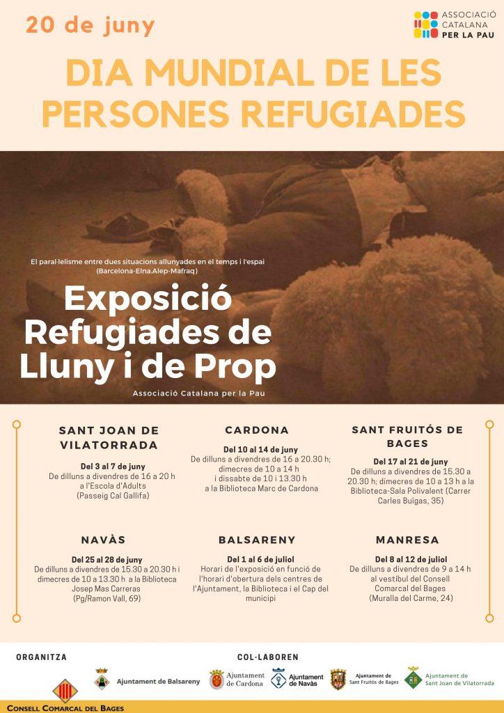 El Consell Comarcal del Bages commemora el Dia Mundial de les Persones Refugiades amb una exposició itinerant