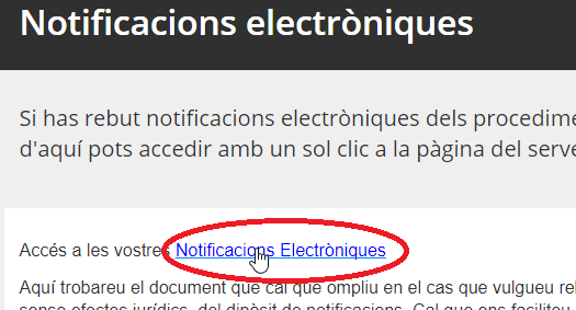 Notificacions electròniques