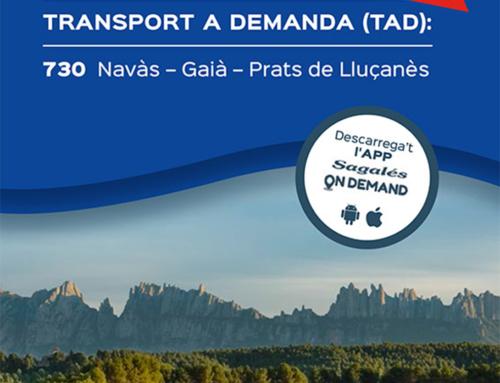 Territori i Sostenibilitat posa en marxa un nou servei de Transport Públic a la Demanda al Bages