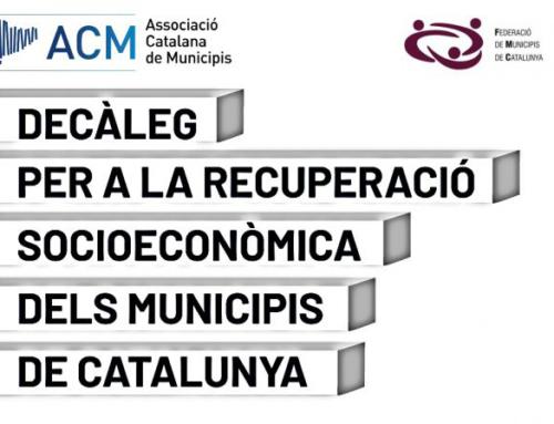 Adhesió al Decàleg per a la recuperació socioeconòmica dels municipis de Catalunya