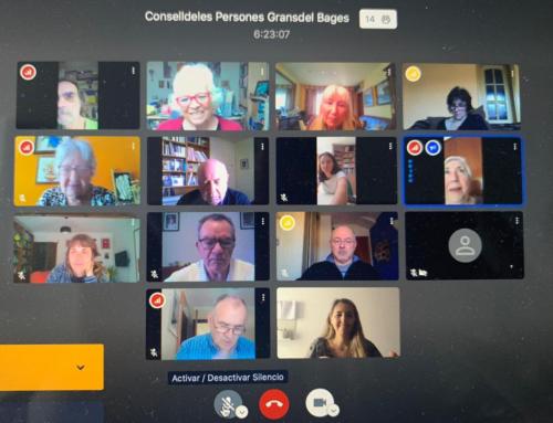 Una representació del Consell de les Persones Grans del Bages es reuneix telemàticament