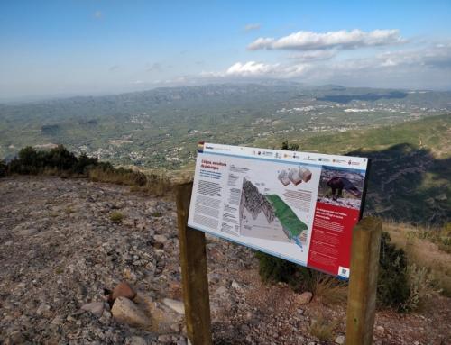 El Geoparc de la Catalunya Central instal·la nous panells informatius i interpretatius a Montserrat