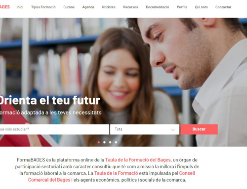 El Consell Comarcal del Bages estrena una nova pàgina web que recull tota l'oferta formativa del territori