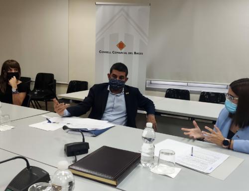 Visita institucional del conseller Chakir El Homrani al Consell Comarcal del Bages