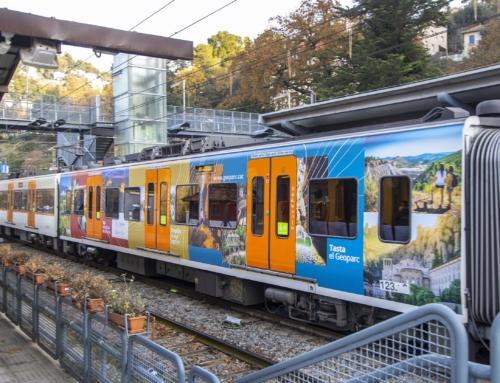 FGC retola un dels seus trens amb imatges del Geoparc de la Catalunya Central