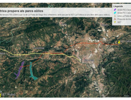 El Consell Comarcal del Bages s'oposa a la línia elèctrica projectada per donar servei a dos parcs eòlics planificats a Rajadell, Aguilar de Segarra i Castellfollit del Boix