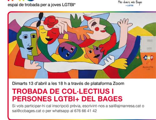 L'Espai Iris d'abril proposa una trobada de col·lectius i entitats LGTBI del Bages